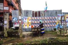 Wahlen in Nigeria, West-Afrika stockfotos