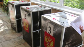 Wahlen in Russland stock video footage