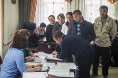 Wahlen zur Staatsduma der Russischen Föderation am 18. September 2016 in der Kaluga-Region Lizenzfreie Stockbilder