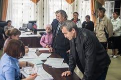 Wahlen zur Staatsduma der Russischen Föderation am 18. September 2016 in der Kaluga-Region Stockfoto