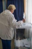 Wahlen zur Staatsduma der Russischen Föderation am 18. September 2016 in der Kaluga-Region Lizenzfreie Stockfotografie
