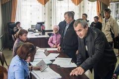 Wahlen zur Staatsduma der Russischen Föderation am 18. September 2016 in der Kaluga-Region Lizenzfreies Stockfoto