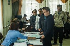 Wahlen zur Staatsduma der Russischen Föderation am 18. September 2016 in der Kaluga-Region Stockfotos