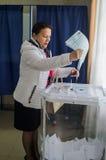 Wahlen zur Staatsduma der Russischen Föderation am 18. September 2016 in der Kaluga-Region Lizenzfreie Stockfotos