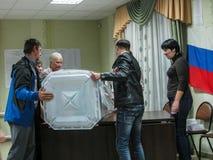 Wahlen zur Staatsduma der Russischen Föderation am 18. September 2016 in der Kaluga-Region Lizenzfreies Stockbild
