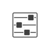 Wahlikone, festes Logo der Einstellungen, Piktogramm an lokalisiert Lizenzfreies Stockfoto