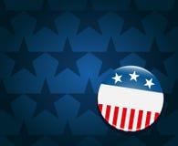 Wahlkampagnen-Tastenhintergrund Lizenzfreie Stockfotografie