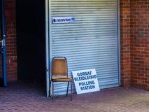 Wahllokal Großbritannien Stockbilder