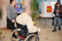 Wahllokale für Leute mit Unfähigkeit Lizenzfreie Stockbilder