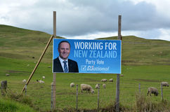Wahlplakat von John Phillip Key Lizenzfreies Stockfoto