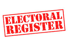 Wahlregister Stockfoto
