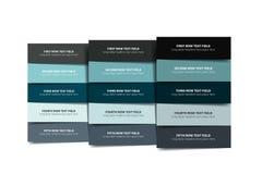 Wahlschablone, Tabelle, Zeitplan, Fahne Schrittweises infographic lizenzfreie abbildung