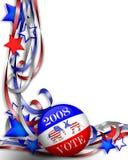 Wahltag-Abstimmung 2008 lizenzfreie abbildung