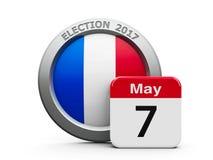 Wahltag Frankreich 2 Stockfoto