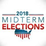 Wahltitelfahne mit Abstimmung Stockfotografie