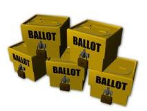 Wahlurne lizenzfreie abbildung
