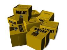 Wahlurne stock abbildung