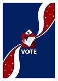 Wahlurne-Abstimmung-Schild Lizenzfreie Stockbilder