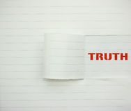 Wahrheit Lizenzfreies Stockfoto