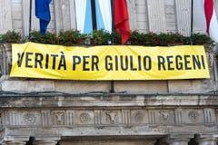 Wahrheit für Giulio Regeni stockfotografie