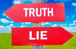 Wahrheit oder Lüge stockbild