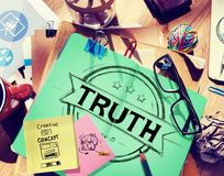 Wahrheits-Glaubenstreue ehrliches wertes Concept Stockbild
