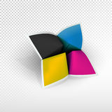 Wahrsager mit CMYK-Farben Stockfotos