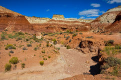 Wahweap hoodoo's trail near Page, Arizona, USA Royalty Free Stock Photography