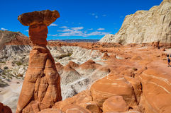 Wahweap hoodoo's trail near Page, Arizona, USA Royalty Free Stock Image