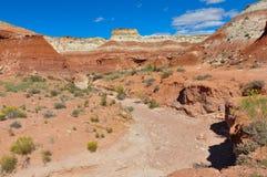 Wahweap hoodoo's trail near Page, Arizona, USA Stock Photos