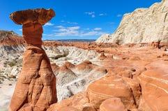 Wahweap hoodoo's trail near Page, Arizona, USA Royalty Free Stock Photography