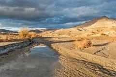 Wahweap wash in Utah desert Stock Images