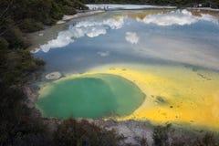 Wai-O-Tapu geotermiczny teren, Rotorua, Nowa Zelandia Obraz Royalty Free