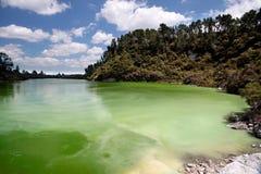 Wai-o-Tapu geothermal area. In Rotorua, North Island, New Zealand Royalty Free Stock Images