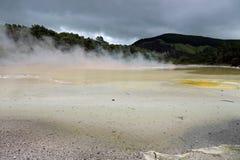 Wai-O-Tapu geothermal area in Rotorua, New Zealand stock image