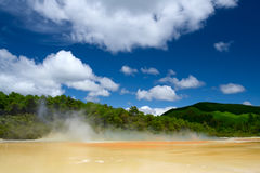 Wai-O-Tapu Geothermal Wonderland, New Zealand Stock Photo