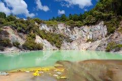Wai-o-Tapu Geothermisch Sprookjesland, Nieuw Zeeland Stock Foto's