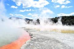 Wai-o-Tapu, New Zealand. Colourful Pools in Wai-o-Tapu Thermal Wonderland in New Zealand Stock Photo