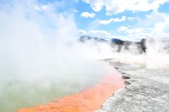 Wai-o-Tapu, New Zealand stock images