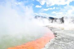 Wai-o-Tapu, New Zealand. Colourful Pools in Wai-o-Tapu Thermal Wonderland in New Zealand Stock Images