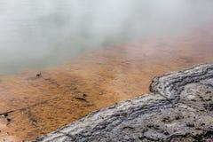 Wai-O-Tapu Sulfur湖 图库摄影