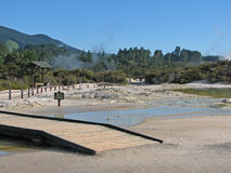 Wai-O-Tapu thermal park, New Zealand stock photography