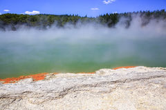 Wai-O-Tapu Thermal Wonderland inNew Zealand. Stock Photos