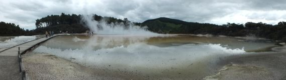 Wai-O-Tapu Thermal Wonderland. In Rotorua, New Zealand royalty free stock photo
