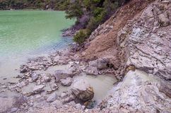 Wai-O-Tapu Thermal Wonderland. Which is located in Rotorua, New Zealand royalty free stock images