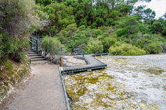 Wai-O-Tapu Thermal Wonderland. Which is located in Rotorua, New Zealand stock photos