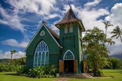 Wai'oli hui'ia kościół, Hawaii Zdjęcie Stock
