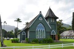 Wai'oli Hui'ia kyrka Royaltyfria Bilder