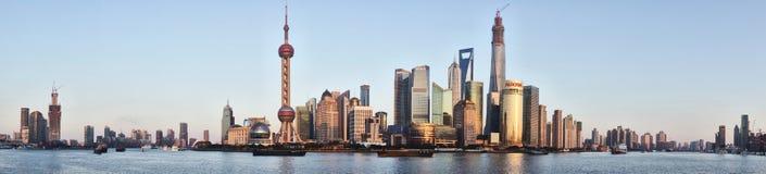 Wai Tan Panorama. Shanghai, CHINA - JANUARY 4, 2014 : Wai Tan Panorama Stock Photography