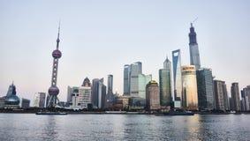 Wai Tan Panorama. Shanghai, CHINA - JANUARY 4, 2014 : Wai Tan Panorama Stock Photos